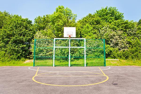 Basketball Court Print by Tom Gowanlock
