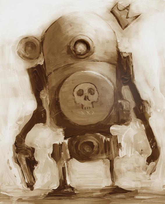Basquibot Print by Matthew Schenk