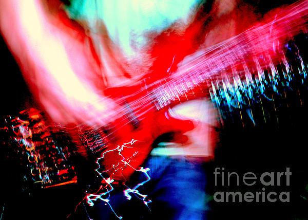 Bass Guitar 1 Print by Jason D Rogers