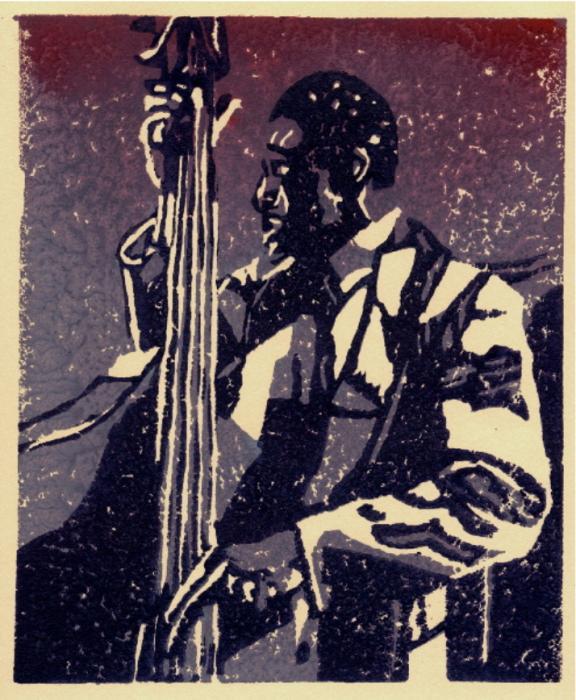 Bass Print by John Brisson