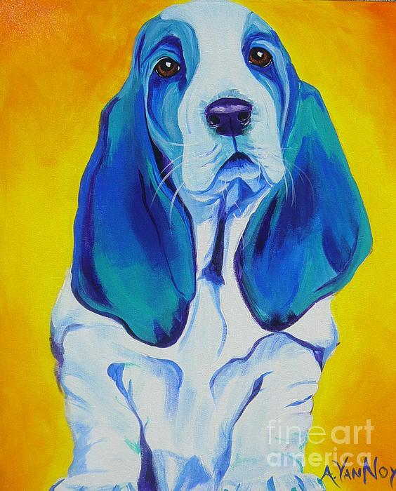Basset - Ol' Blue Print by Alicia VanNoy Call