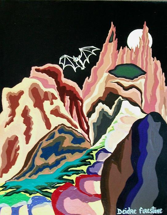 Bat Mountain Print by Deidre Firestone