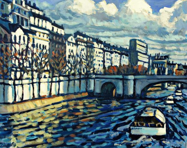 Bateau Mouche Print by Brian Simons