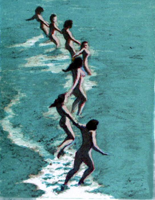 Bathers lithography by james legros for Design your own bathers