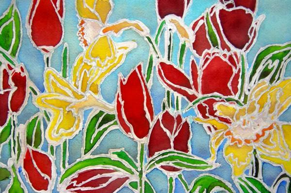 Ткань для росписи акварелью