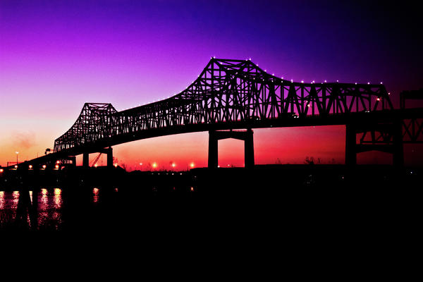 Baton Rouge At Dusk Print by Sarah Stollberg