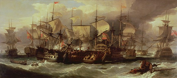 Battle Of Cape St Vincent Print by Sir William Allan