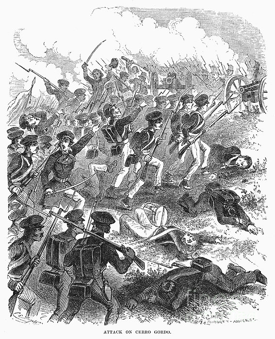 Battle Of Cerro Gordo Print by Granger