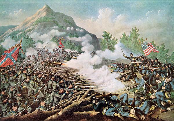 Battle Of Kenesaw Mountain Georgia 27th June 1864 Print by American School