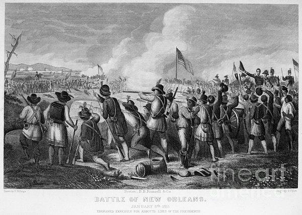 Battle Of New Orleans Print by Granger