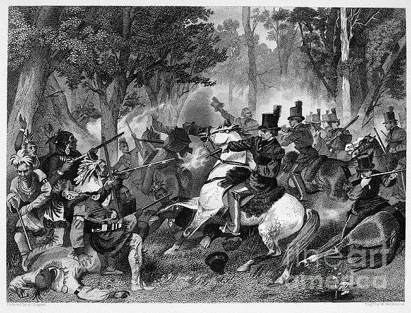 Battle Of The Thames Print by Granger