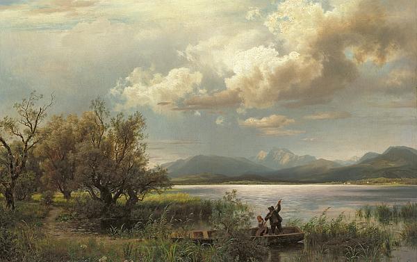 Bayern Landscape Print by Augustus Wilhelm Leu