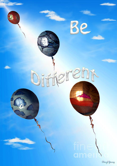 Be Different Print by Cheryl Young