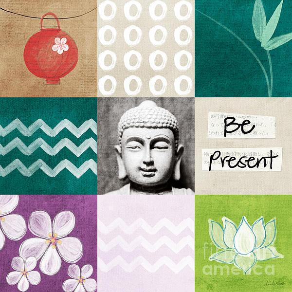 Be Present Print by Linda Woods