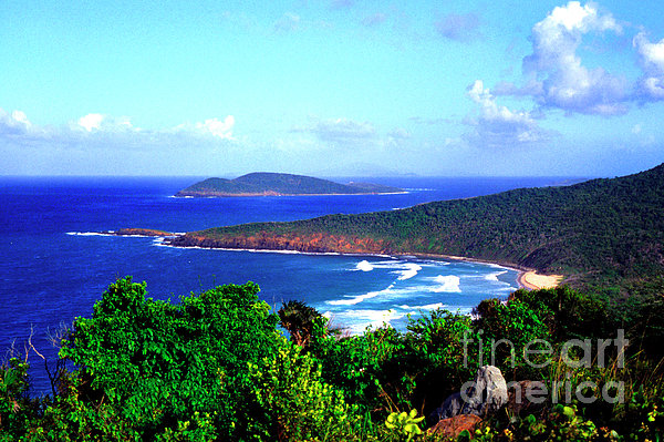 Beach And Cayo Norte From Mount Resaca Print by Thomas R Fletcher
