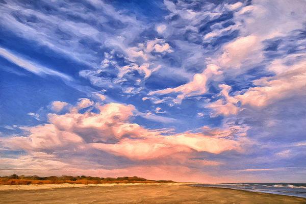 Beach At Sullivan's Island Print by Dominic Piperata