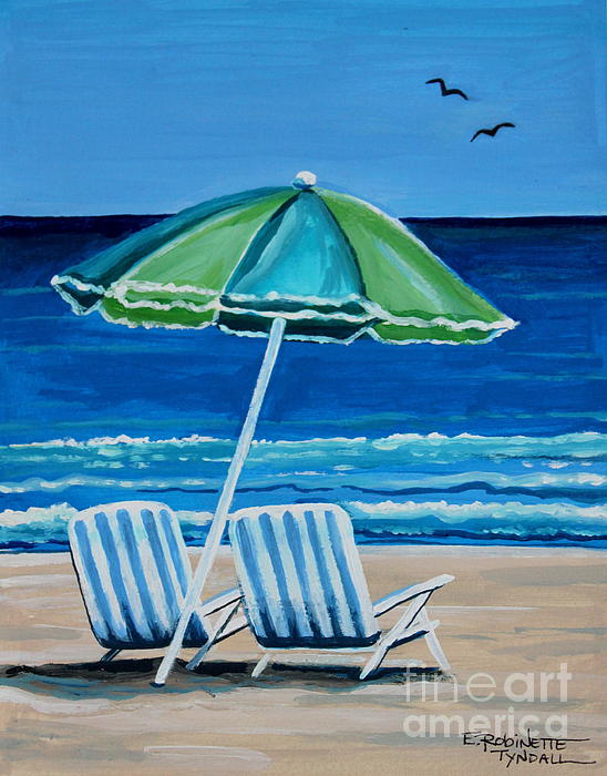 Beach Chair Bliss Painting