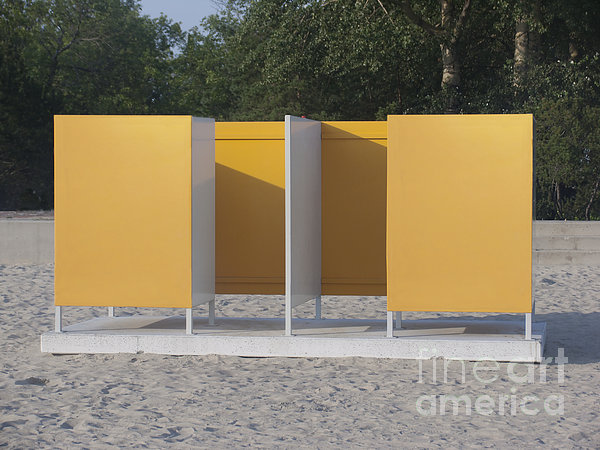 Beach Dressing Rooms Print by Jaak Nilson