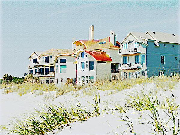 Beach House Print by Carol  Bradley