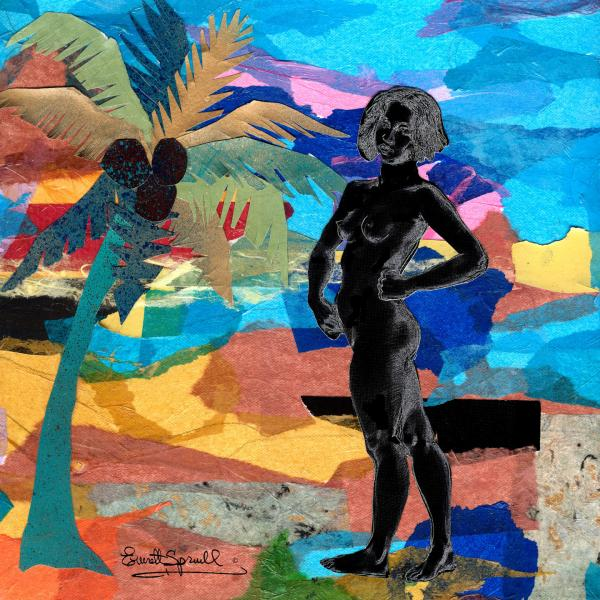 Beach Nude 2 Painting - Everett Spruill