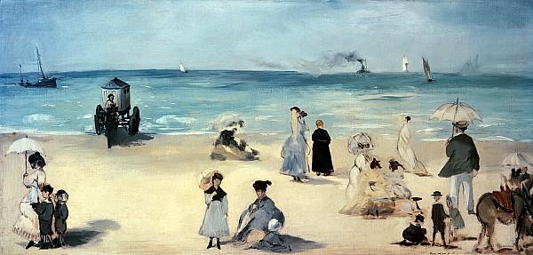 Beach Scene Print by Edouard Manet