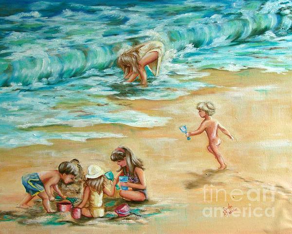Beach Streaker Print by Sandra Valentini