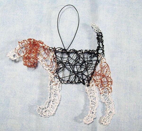 Beagle Ornament Print by Charlene White