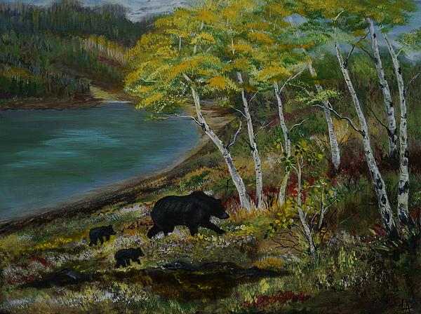 Bear Country Print by Leslie Allen