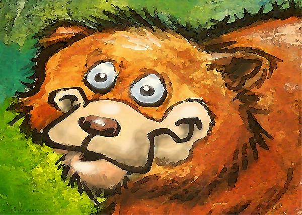 Bear Print by Kevin Middleton