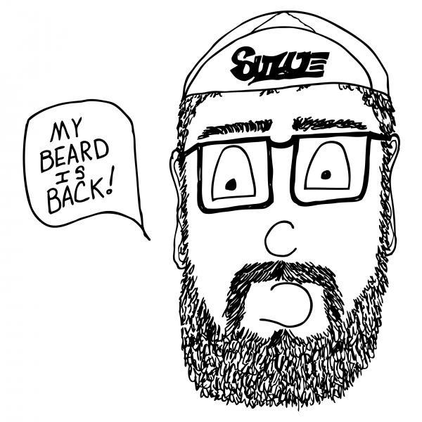 Beard Comic Print by Karl Addison