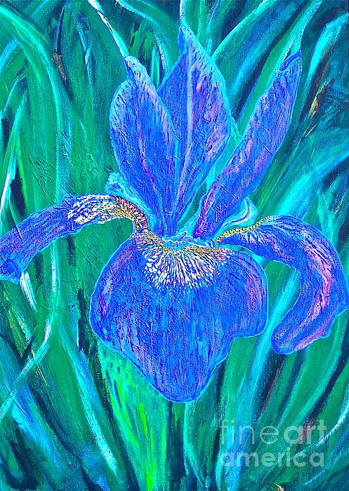 Christine Chase Cooper - Bearded Purple Iris