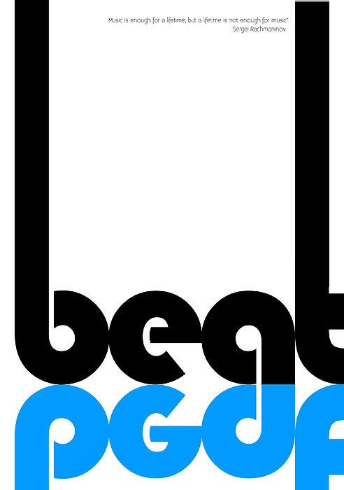 Beat Poster Print by Naxart Studio