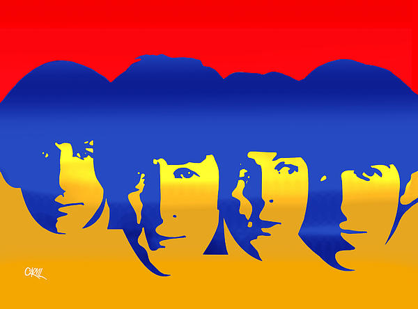 Beatles Pop Print by Carvil