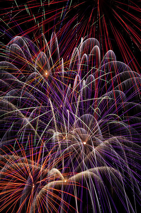 Beautiful Fireworks Print by Garry Gay