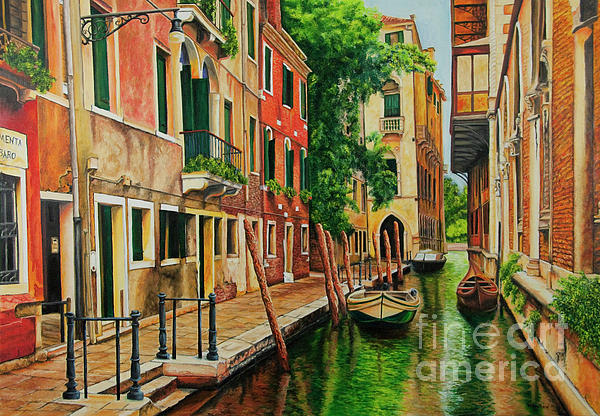 Charlotte Blanchard - Beautiful Side Canal In Venice