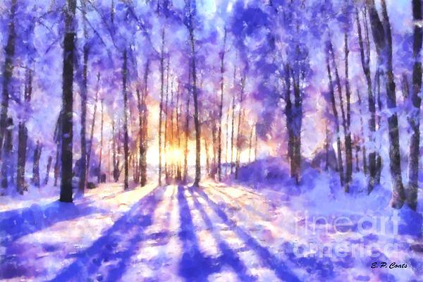 Beautiful Winter Morning Print by Elizabeth Coats