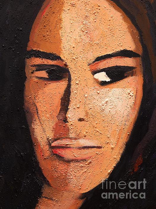 Beautiful Woman Print by Lutz Baar