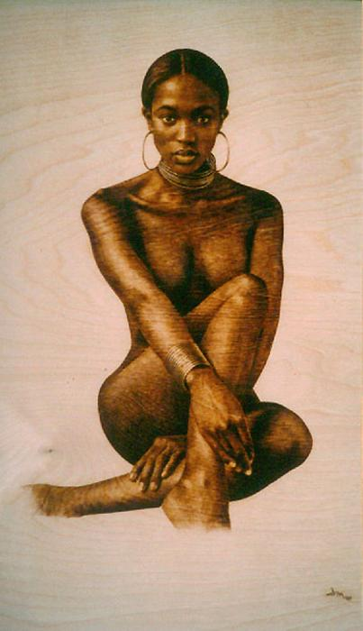 from Davion naked african woman paintings
