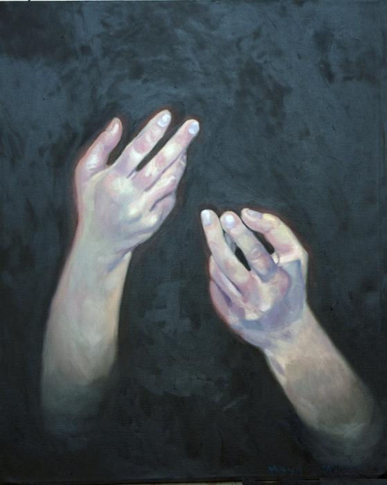 Beckoning Hands Painting  - Beckoning Hands Fine Art Print