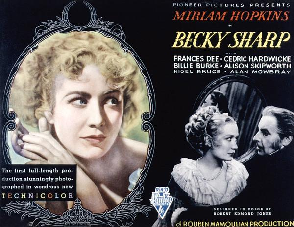 Becky Sharp, Miriam Hopkins, Cedric Print by Everett