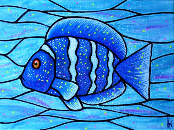 Beckys blue tropical fish by jim harris for Jims exotic fish