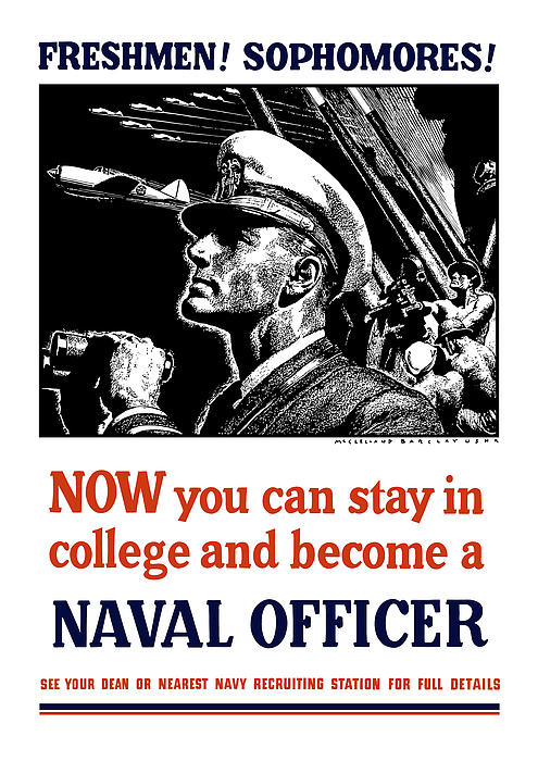 Become A Naval Officer Print by War Is Hell Store