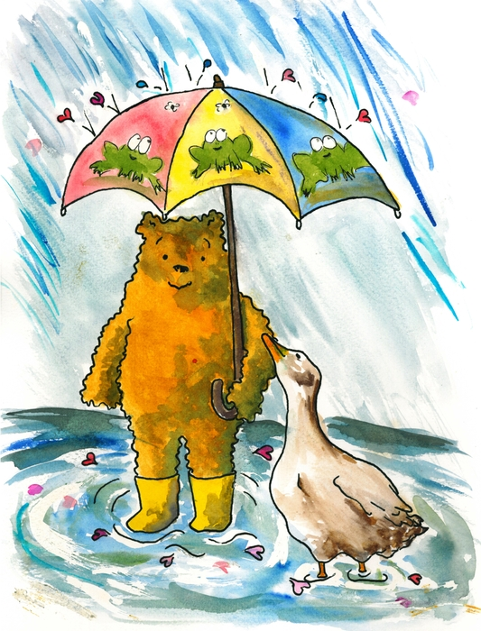Heart-Led Woman - Beebs and Goosey in the Rain