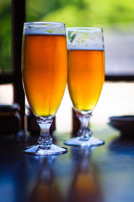 Beer Glass Print by Sakura_chihaya+