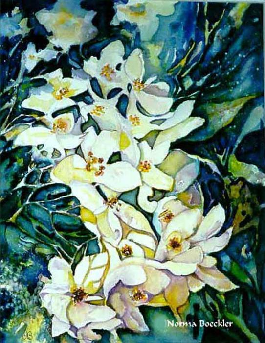 Begonias Print by Norma Boeckler