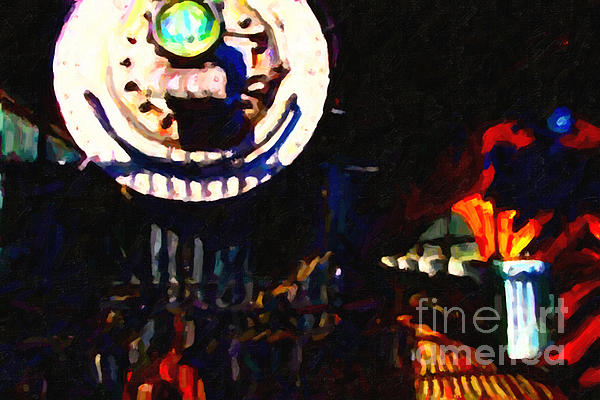 Behind The Gates At The Old Locomotive House . Painterly . Vision 2 Print by Wingsdomain Art and Photography