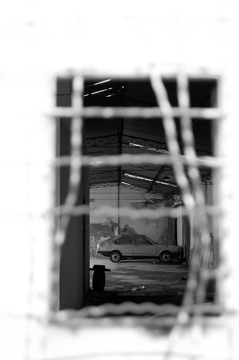 Behind The Grids Print by Ordi Calder