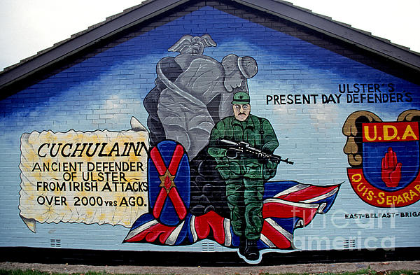 Belfast Mural Print by Thomas R Fletcher