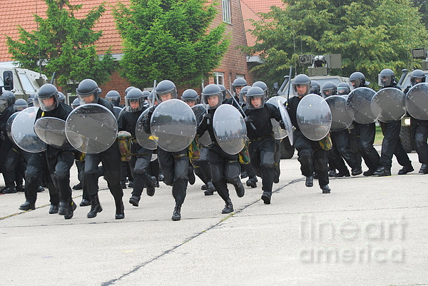 Belgian Infantry Soldiers Training Print by Luc De Jaeger