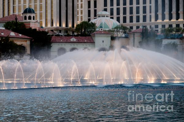 Bellagio Fountain Patterns 2 Hotel Casino Fountains Las Vegas Nevada Photograph  - Bellagio Fountain Patterns 2 Hotel Casino Fountains Las Vegas Nevada Fine Art Print